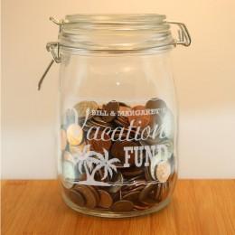 Custom Engraved Vacation Money Jar