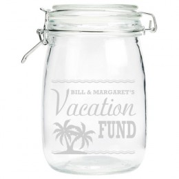 Engraved Vacation Money Jar