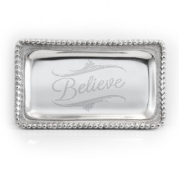 Engraved Inspirational Tray - Believe