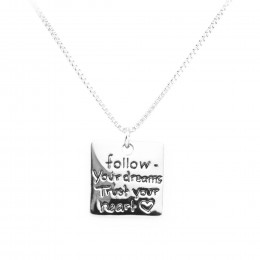 Personalized Follow Your Dreams Pendant