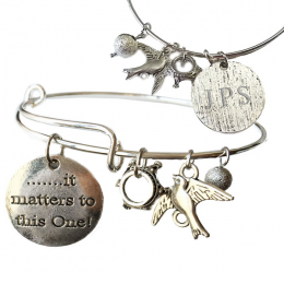 """It Matters to this One"" Bangle Bracelet"