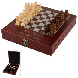 Personalized Chess Set with Wood Box