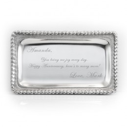 Engraved Message Jewelry Tray