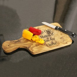 Exotic Olive Wood Personalized Cheese Board