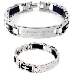 Mens ID Bracelet with Crosses