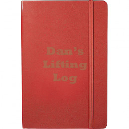 Personalized Red Leatherette Journal