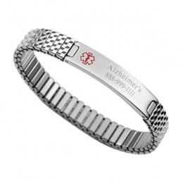 Engravable Medical Alert Stretch Bracelet