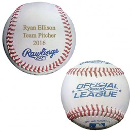 Personalized Rawlings Official Leather Baseball