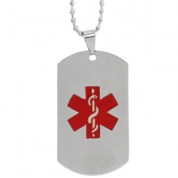 Large Medical Symbol Steel Dog Tag