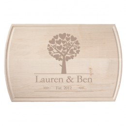 Tree of Hearts Maple Trench Cutting Board