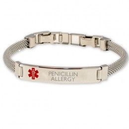 Women's Mesh Band Medical ID Bracelet