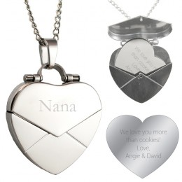 Personalized Heart Locket with Engraved Message