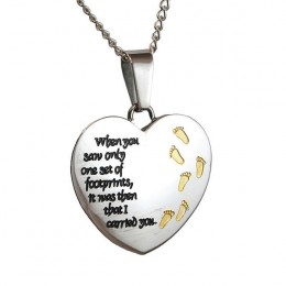Personalized Footprints In The Sand Pendant