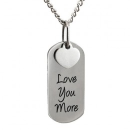 Engraved Love You More Pendant