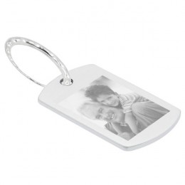 Photo Key Ring Stainless Steel Dog Tag