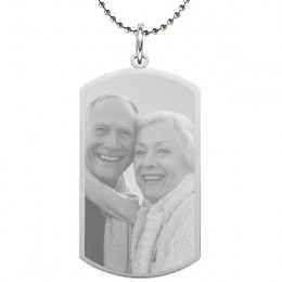Small Custom Photo Dog Tag