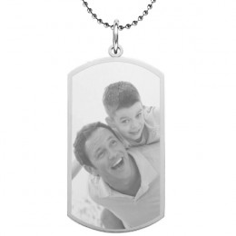Large Custom Photo Dog Tag
