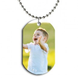 Personalized Color Photo Dog Tag Pendant