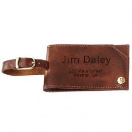 Personalized Cutter & Buck Dark Brown Luggage Tag