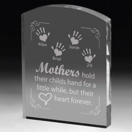 Personalized Children's Handprint Mothers Plaque