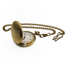 Personalized Bronze Pocket Watch