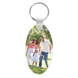 Photo Engraved Oval Keychain