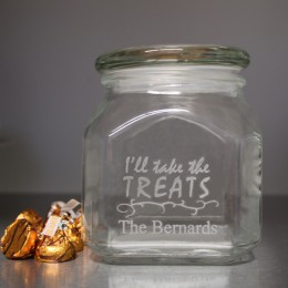 Family Treats Personalized Halloween Candy Jar