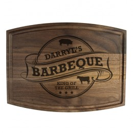 Walnut Barbeque Design Cutting Board with Juice Groove