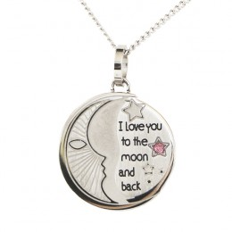 I Love You To The Moon & Back Birthstone Pendant