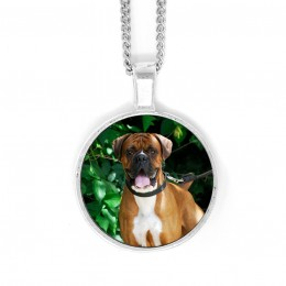 Personalized Round Bezel Set Photo Pendant