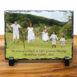 "Personalized Photo Slate Plaque - 5"" x 7"""