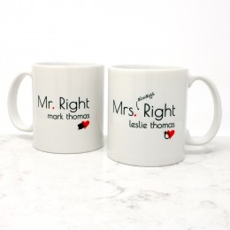This personalized coffee set perfectly compliments that perfect couple that are just right for each other