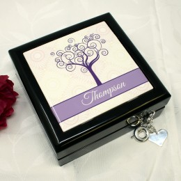Personalized keepsake box with tree of life