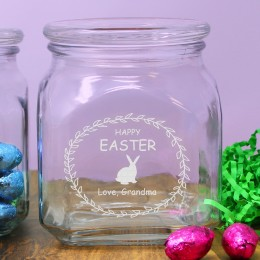 Family Name Personalized Easter Candy Jar