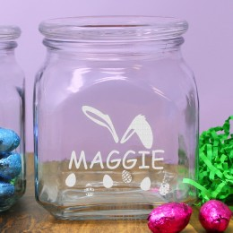 Bunny Ears Personalized Easter Candy Jar