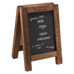 Customized countertop chalkboard message easel