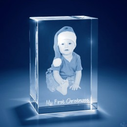3D Photo Tower Crystal Keepsake