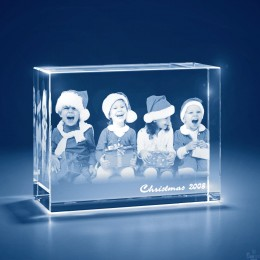 3D Photo Customized Crystal Keepsake - Rectangle