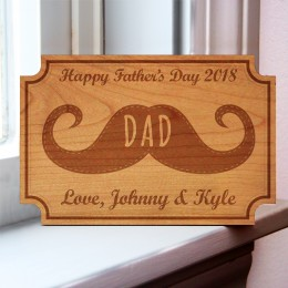 Happy Father's Day Personalized Wood Card