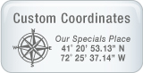 Custom Coordinates on Personalized Products