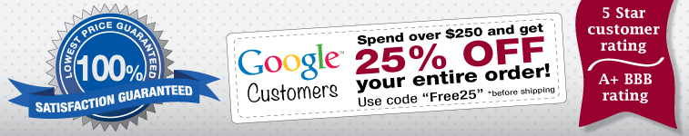 Welcome Google Customers - Order Today