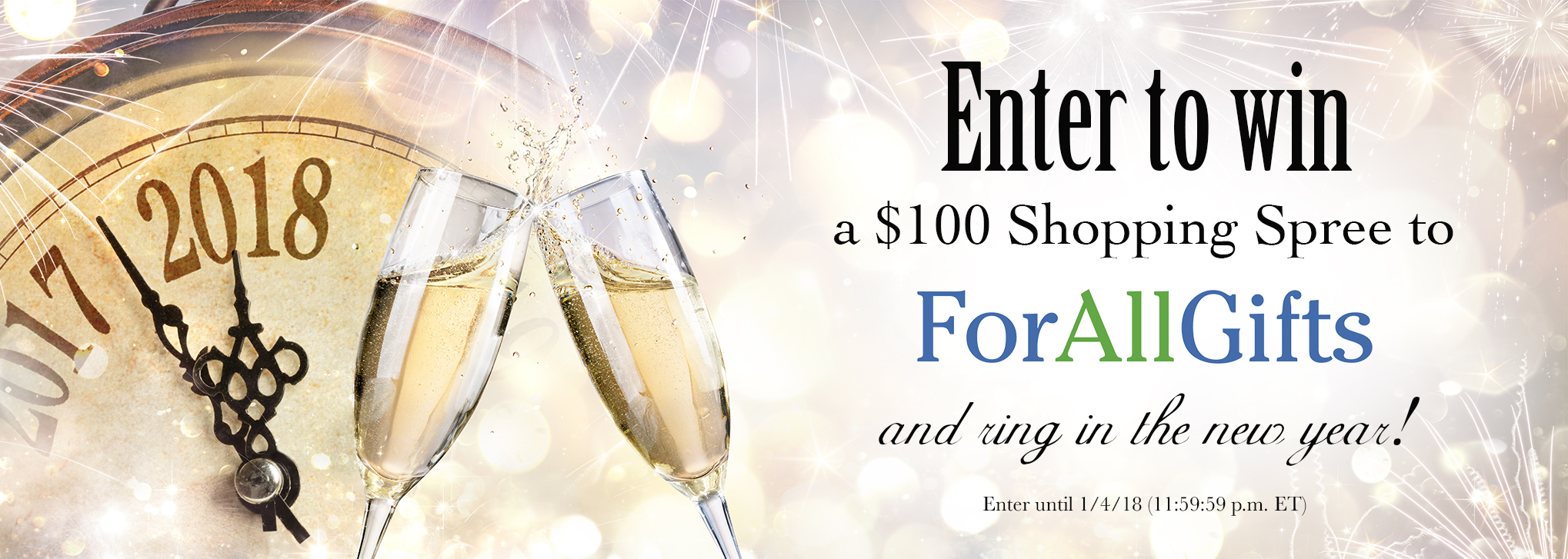 Enter to win a $100 Shopping Spree at ForAllGifts!